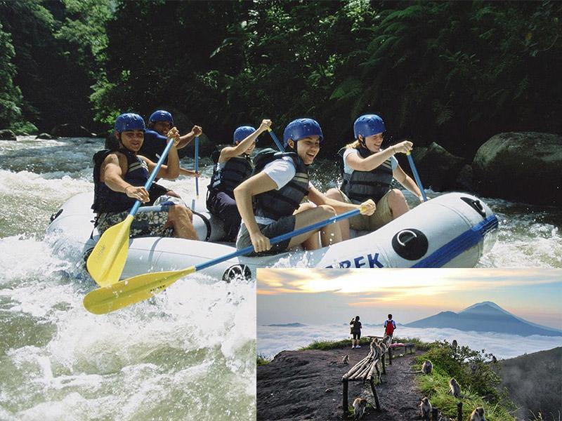 Ayung River Rafting + Mount Batur Sunrise Trekking