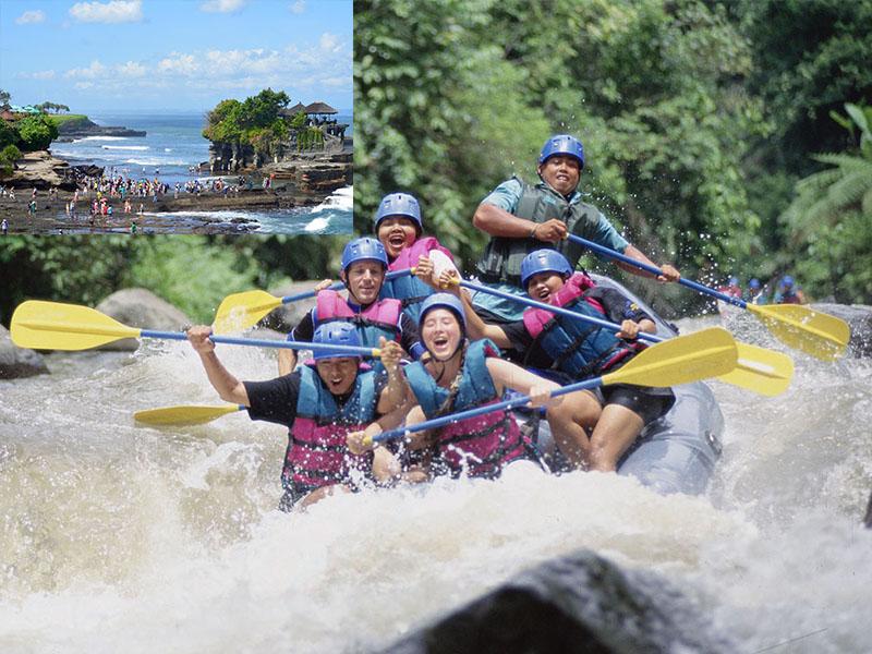 Ayung River Rafting + Tanah Lot Tour