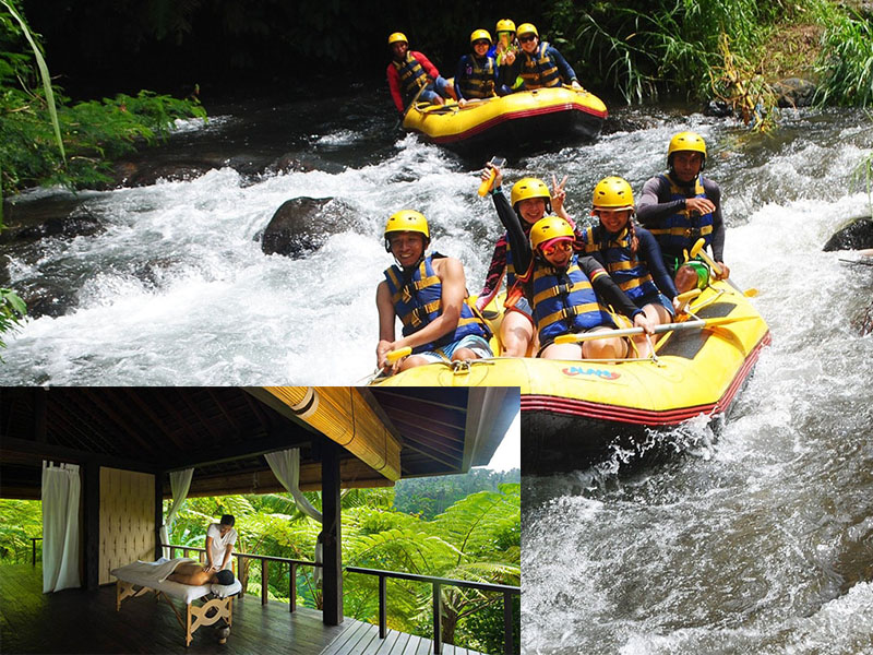 Telaga Waja River Rafting + 2 Hours Spa