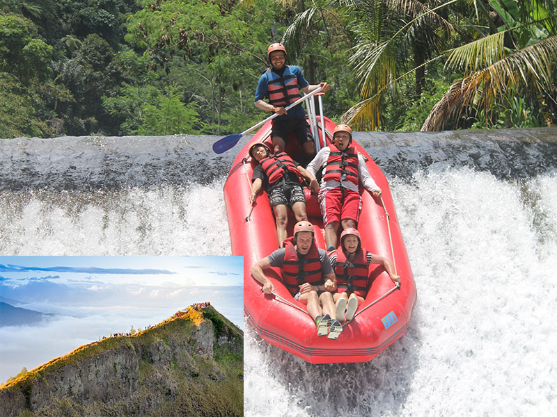 Telaga Waja River Rafting + Mount Batur Sunrise Trekking
