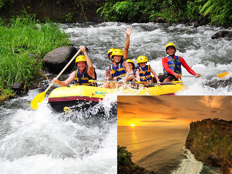 Ayung River Rafting + Uluwatu Sunset Tour