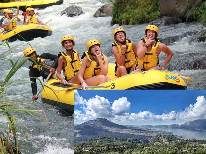 Telaga Waja River Rafting + Kintamani Volcano Tour